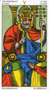 05 hogepriester Universal Tarot Marseille