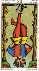12 gehangene Universal Tarot Marseille