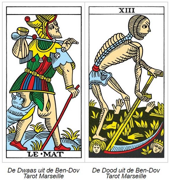 Tarot Marseille Ben-Dov tarotkaarten De Dwaas en De Dood