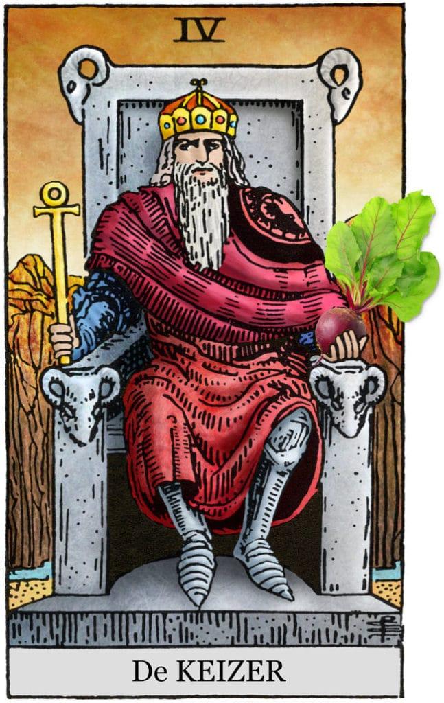 tarot keizer en rode bietjes