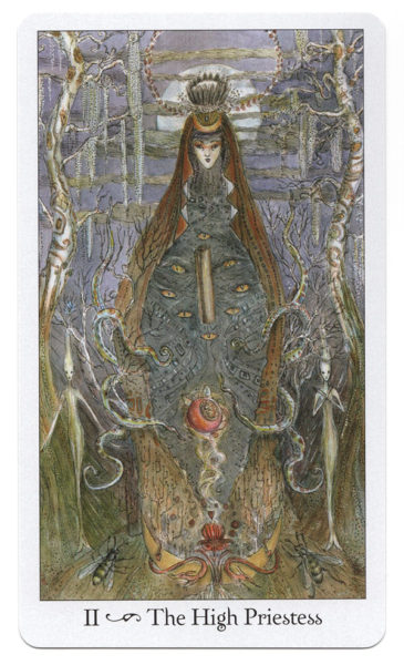 Tarotkaart De Hogepriesteres Paulina Tarot