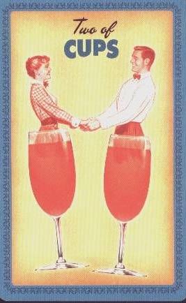 Kelken 2 - Huisvrouwen Tarot