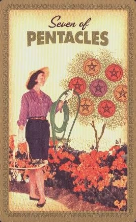 Housewives Tarot Pentakels 7