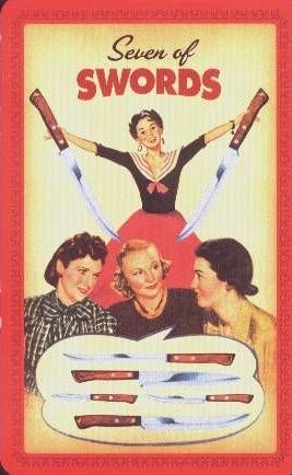 Housewives Tarot Zwaarden Zeven