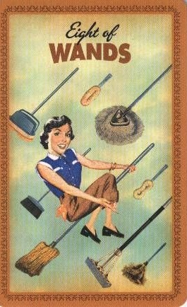 Housewives Tarot Staven Acht