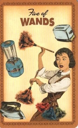 Housewives Tarot Staven 5