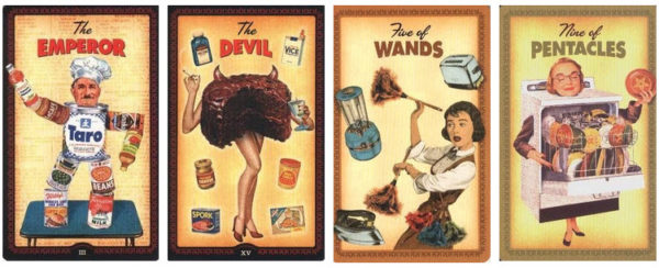 housewives tarot 4 kaarten voedsel en apparatuur