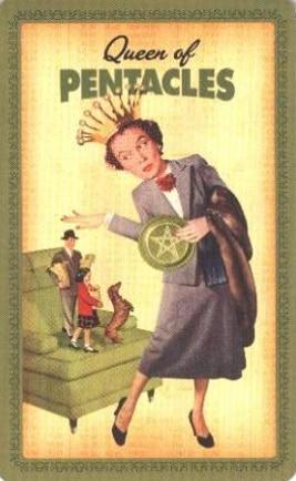 Housewives Tarot Pentakels Koningin