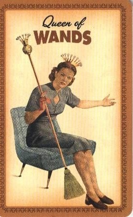 Housewives Tarot Staven Koningin