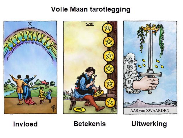 Volle Maan – 3 kaarten tarotlegging