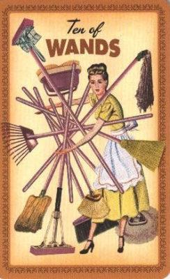 Huisvrouwen Tarot Staven Tien
