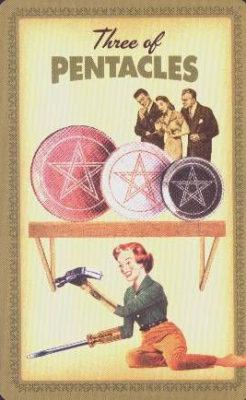 Huisvrouwen Tarot Pentakels Drie