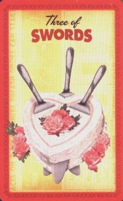Huisvrouwen Tarot Zwaarden Drie