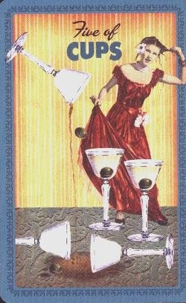 Housewives Tarot Kelken Vijf