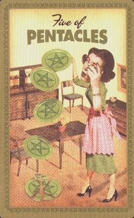 Huisvrouwen Tarot Pentakels Vijf