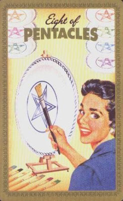 Huisvrouwen Tarot Pentakels Acht
