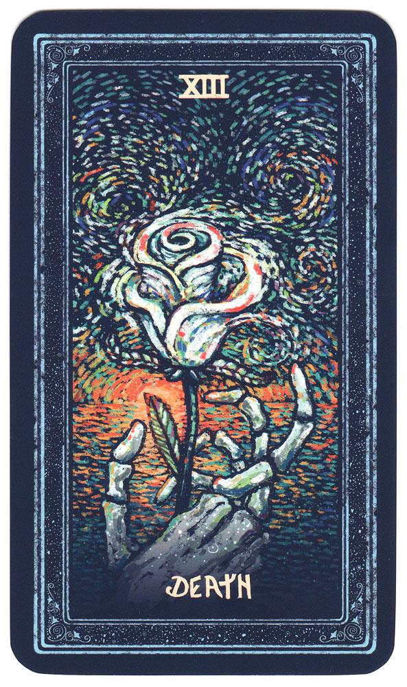 tarotkaart de dood uit de prisma visions tarot