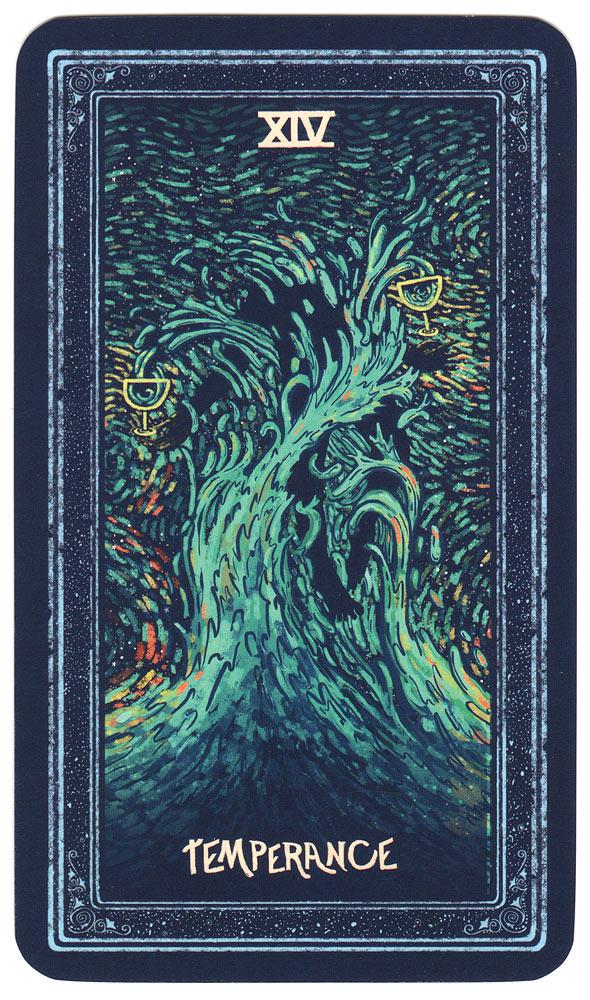 tarotkaart matigheid uit de Prisma Visions Tarot