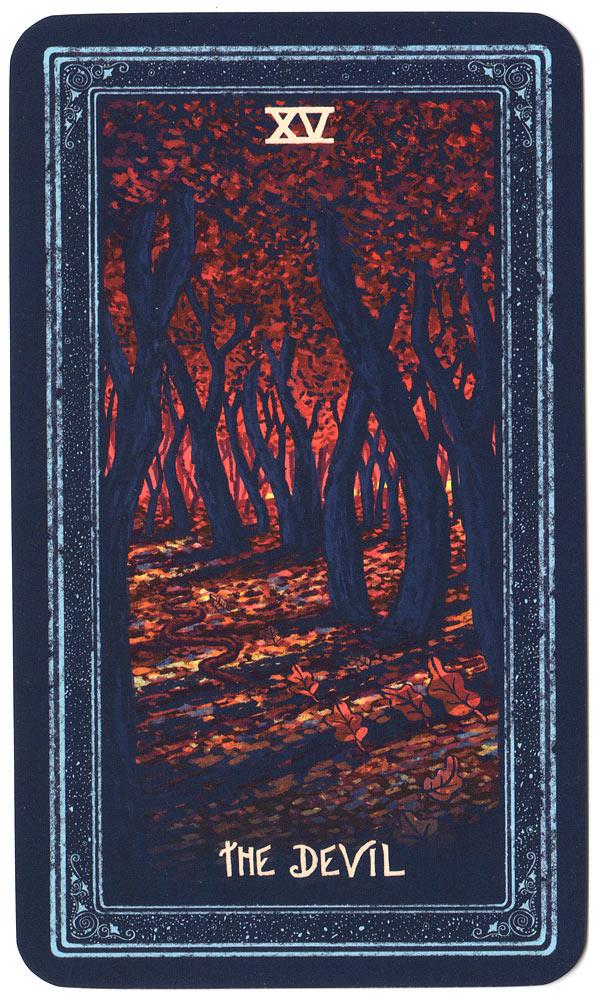 tarotkaart de duivel uit de prisma visions tarot