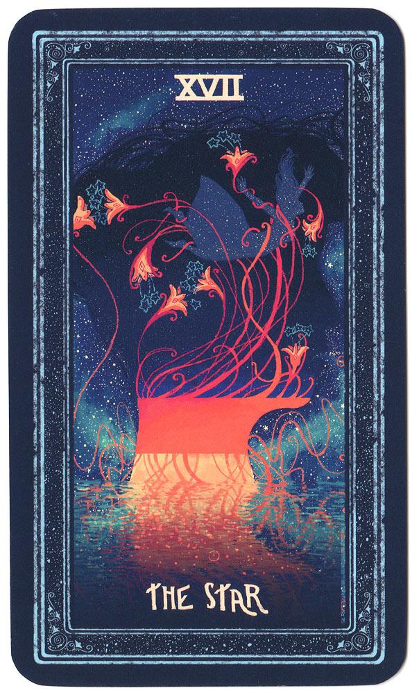tarotkaart de Ster uit de prisma visions tarot