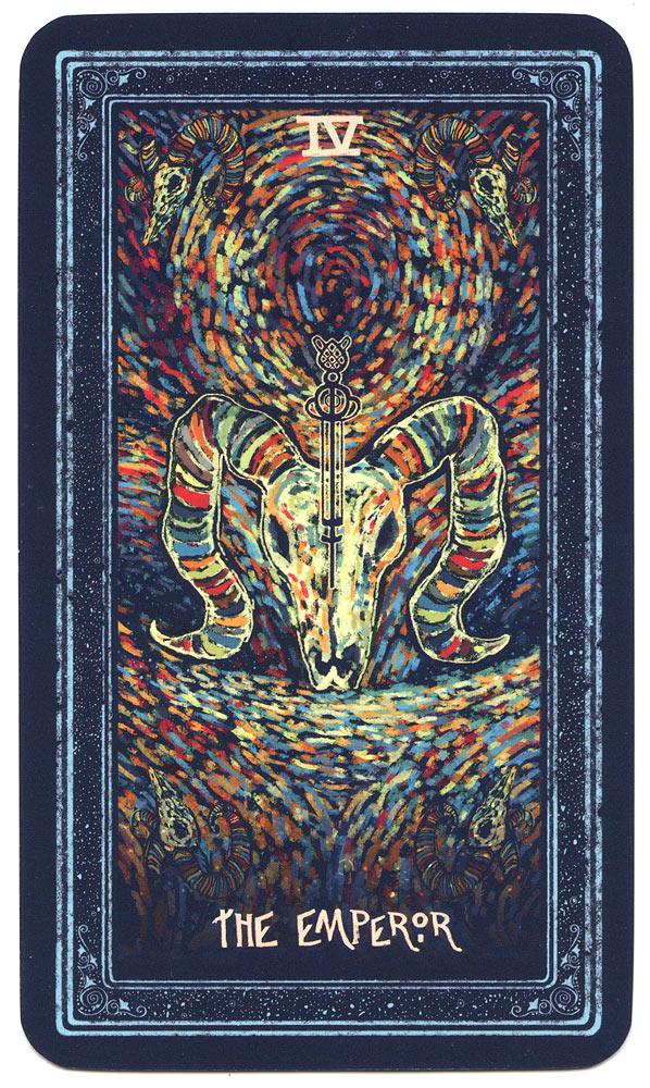 Tarotkaart de Keizer uit de Prisma Visions Tarot