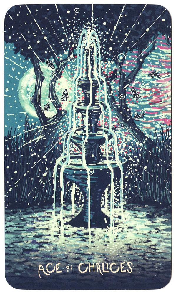 Tarotkaart Kelken Aas - Prisma Visions