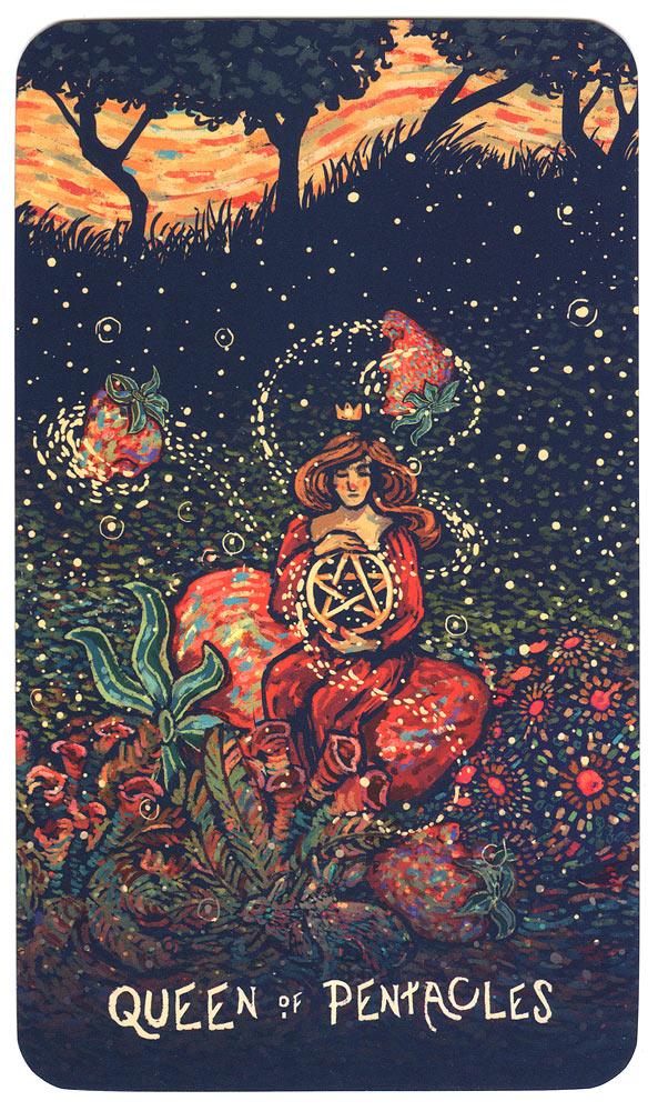 Prisma Visions Tarot - Koningin van Pentakels