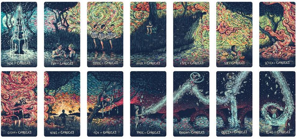 Prisma Vision tarotkaarten Kelken