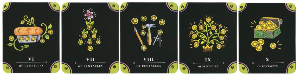 Tarot - The Complete Kit - tarotkaarten Pentakels 6tm10
