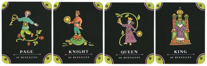 Tarot - The Complete Kit - Pentakels hofkaarten
