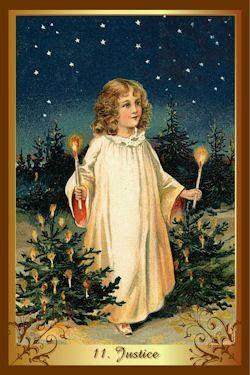 gerechtigheid kenner kerst tarot