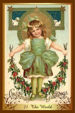 Tarotkaart De Wereld uit de kenner kerst tarot