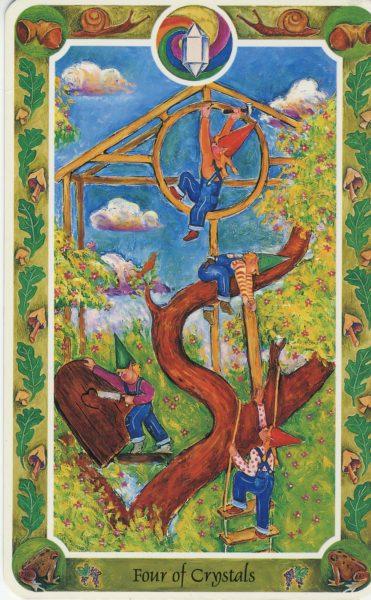 Tarotkaart Pentakels 4 uit de Inner Child Tarot