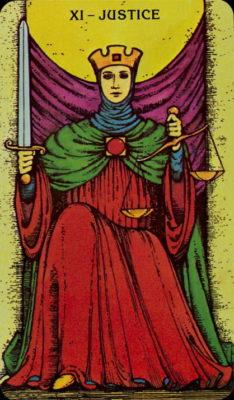 Morgen Greer tarot dagkaart Gerechtigheid