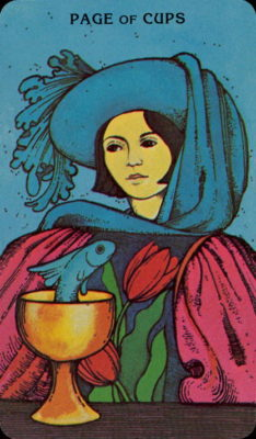 Morgan Greer Tarotkaart Kelken Page