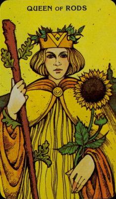 tarot dagkaart trekken Morgan Greer Tarotkaart Staven Koningin