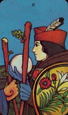 Morgan Greer Tarotkaart Staven Twee tarot dagkaart trekken