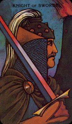 Morgan Greer Tarotkaart Zwaarden Ridder