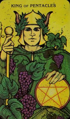 tarot dagkaart pentakels koning morgan greer tarot