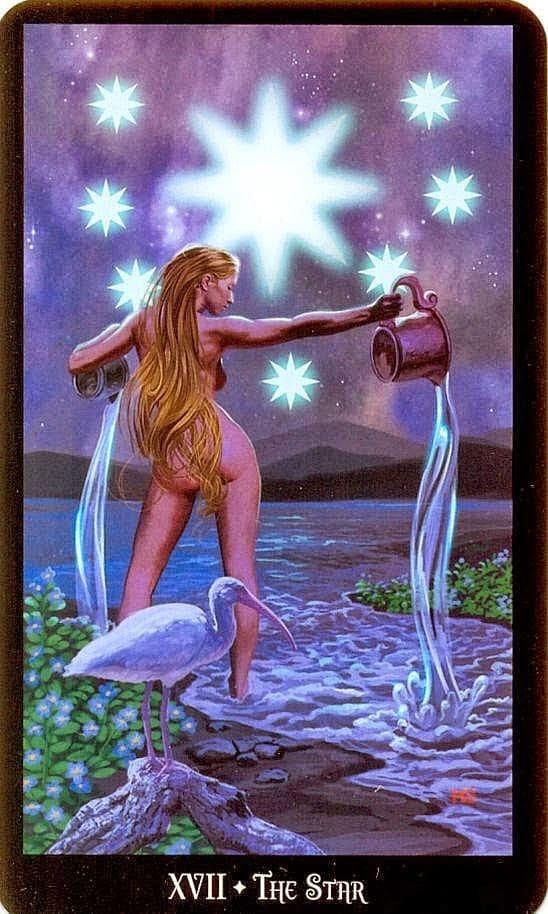 tarotkaart Ster uit de Dugan Witches Tarot