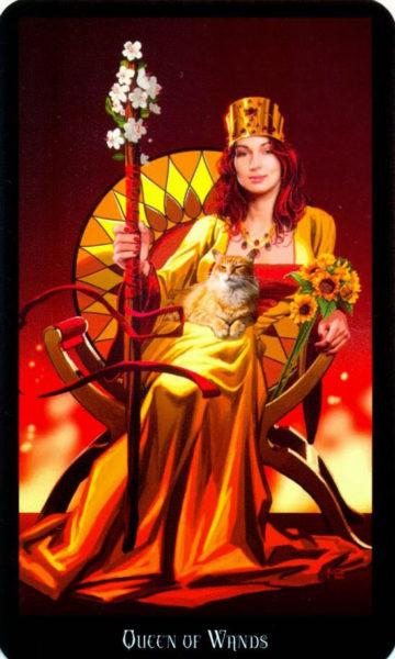 evans tarotkaart staven koningin
