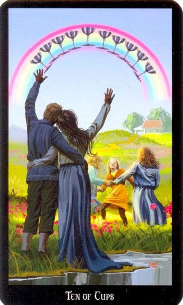 Dugan witches tarot kelken tien