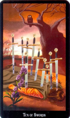 Dugan witches tarot zwaarden 10