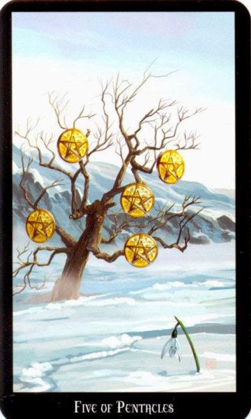 Dugan witches tarot pentakels 5