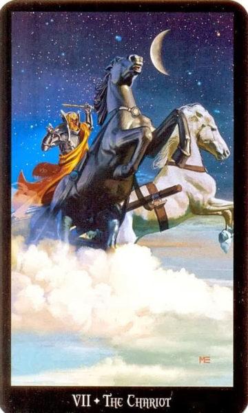 Evans Tarotkaart de Zegewagen