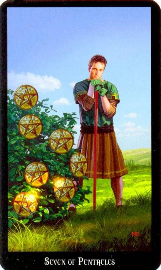 Dugan witches tarot pentakels 7