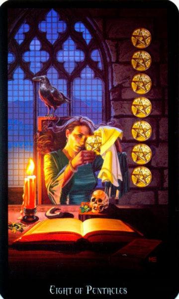 Dugan witches tarot pentakels 8