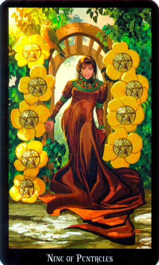 Dugan witches tarot pentakels 9