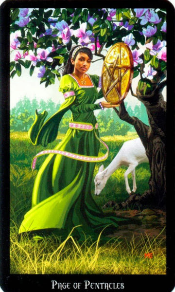 Dugan witches tarot pentakels page