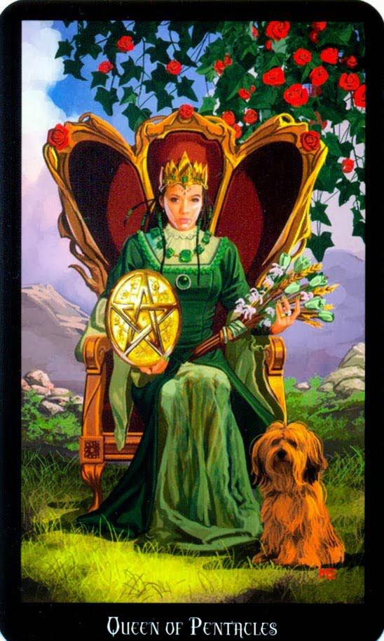 Dugan witches tarot pentakels koningin